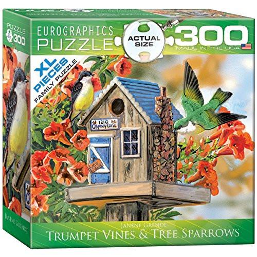 Trumpet Vines & Tree Sparrows - 300 pc