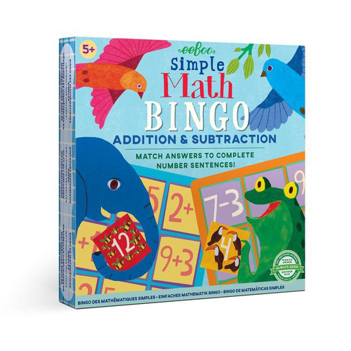 Simple Math Bingo Addition and Subtraction