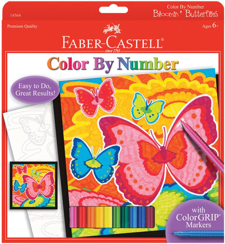 Color By Number - Bloomin Butterflies