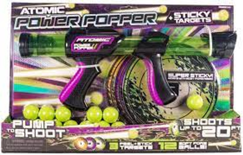 Atomic Power Popper and Sticky Targets