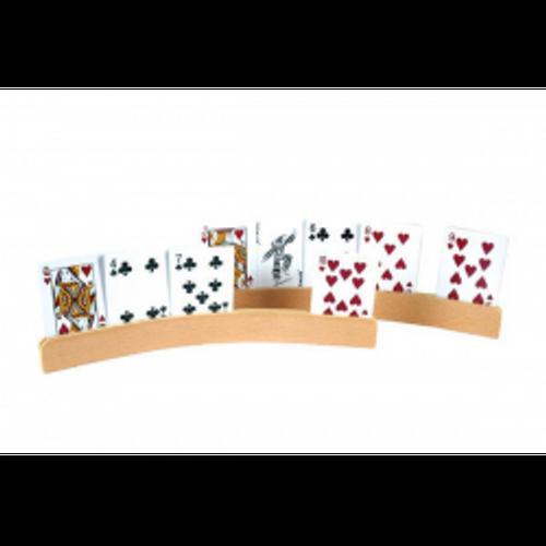 Card Holder Wooden 2 PC Curve Shape