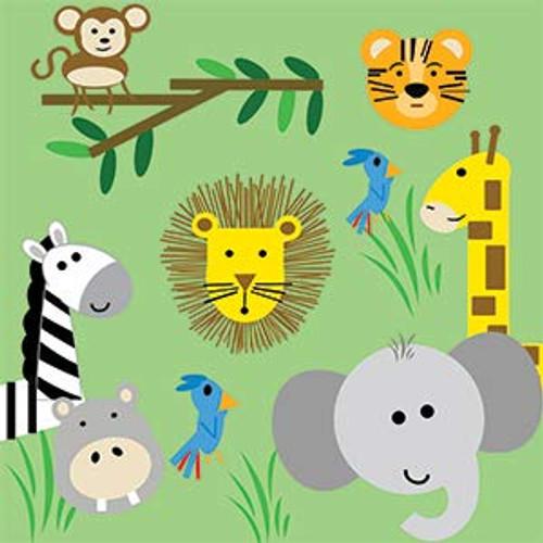 "8""x8"" Crinkle Square - Jungle Zoo"