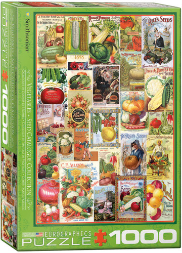 Vegetables Seed Catalogue Collection 1000 Piece Puzzle