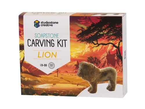Soapstone Carving Kit - Lion