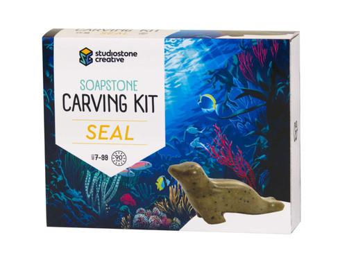 Soapstone Carving Kit - Seal