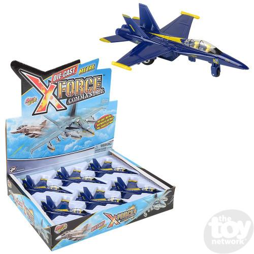 """Pull Back F-18 Blue Angel 6.5"""" DC"""