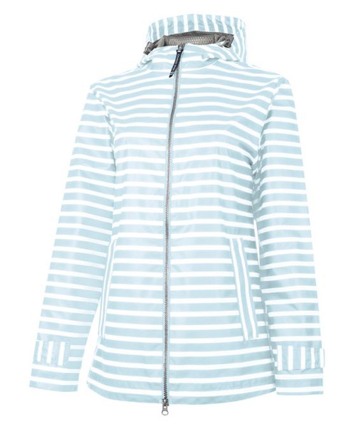 Charles River Striped Rain Coat