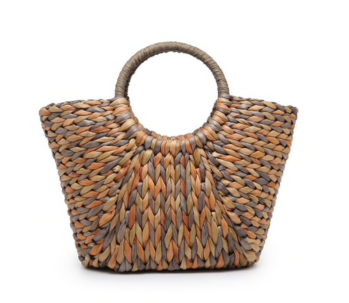 Jen & Co Natural Corn Husk Satchel