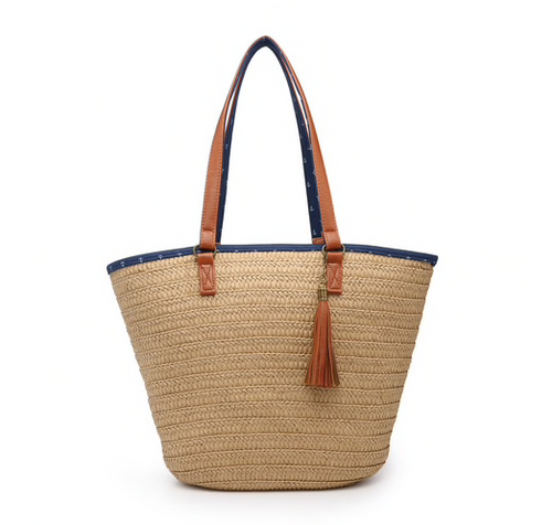 Jen & Co Natural Sea Grass Tote
