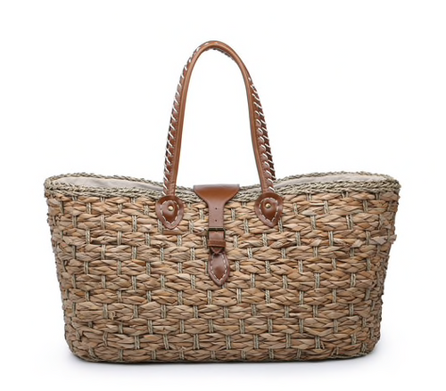 Jen & Co Oversized Natural Seagrass Tote