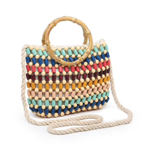 Jen & Co Beaded Crossbody W/ Snap Closure