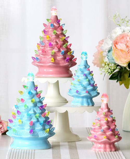 Retro Ceramic Easter Trees