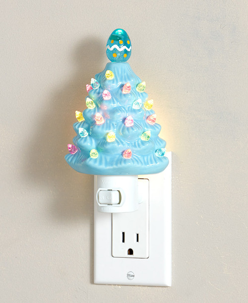 Retro Ceramic Easter Tree Nightlights