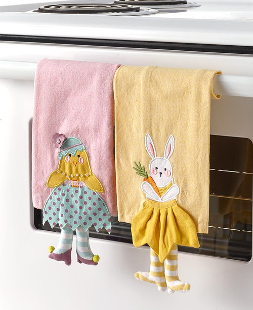 Dangle Leg Easter Kitchen Towels