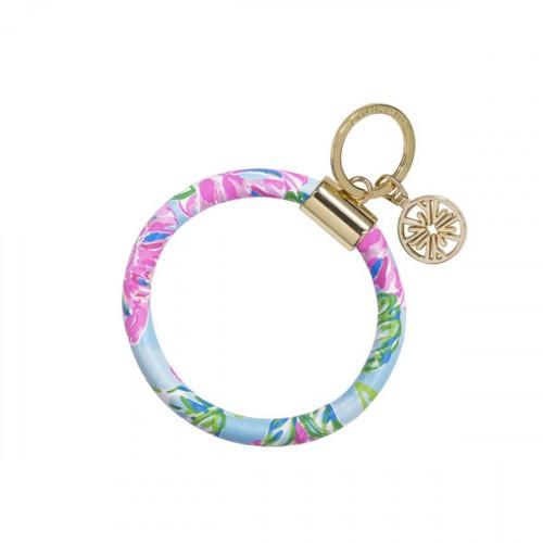 Lilly Round Keychain