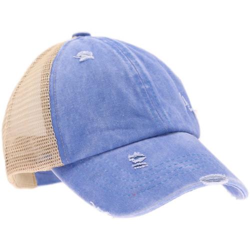 CC Beanie Kids Criss Cross Ponytail Caps