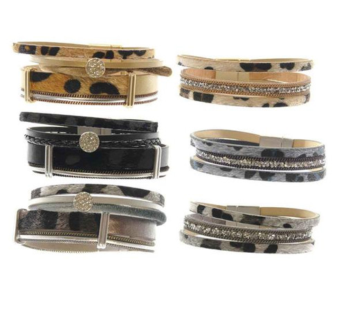 CP Wide Magnetic Animal Print Bracelet