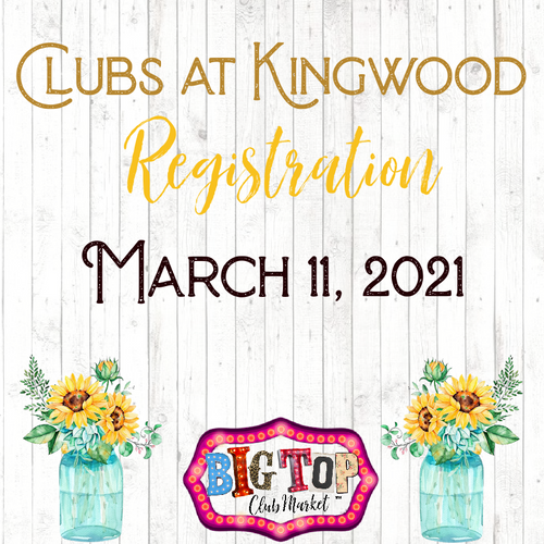 March 11, 2021 Clubs of Kingwood Vendor Registration