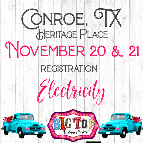 Electricity - Conroe, TX - Saturday, November 20 & Sunday, November 21, 2021 - Heritage Place - Conroe, TX Vendor Registration