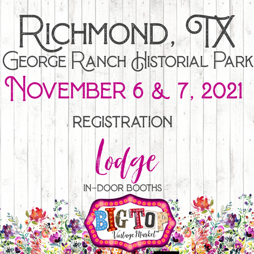 Indoor/Lodge - George Ranch Historical Park - Richmond, TX - Saturday, November 6 & Sunday, November 7, 2021 - Richmond, TX Vendor Registration