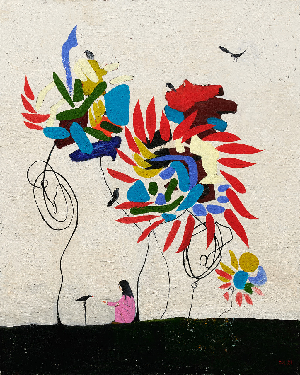 clare rojas feed the crows