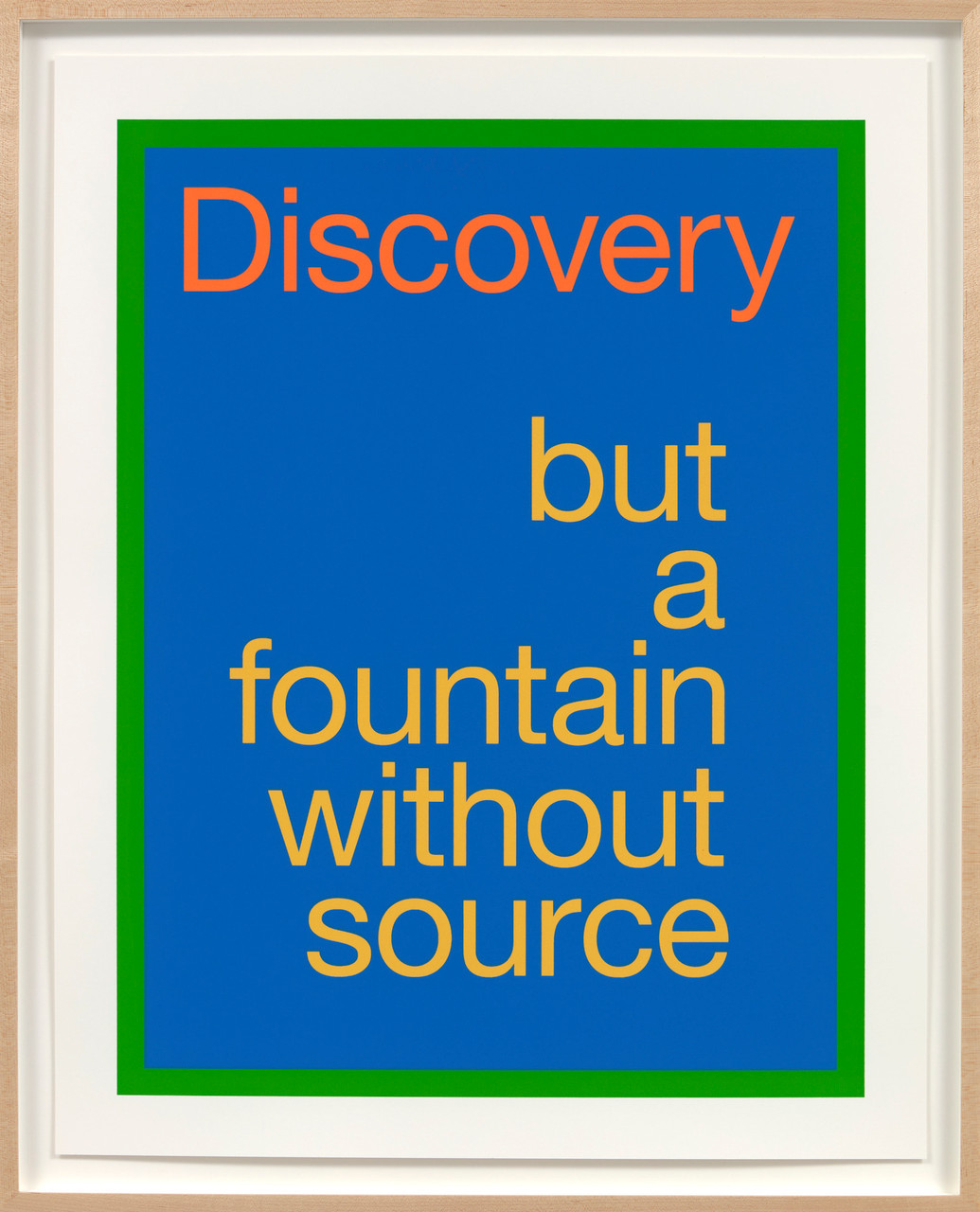 renee green discovery but a fountain without source