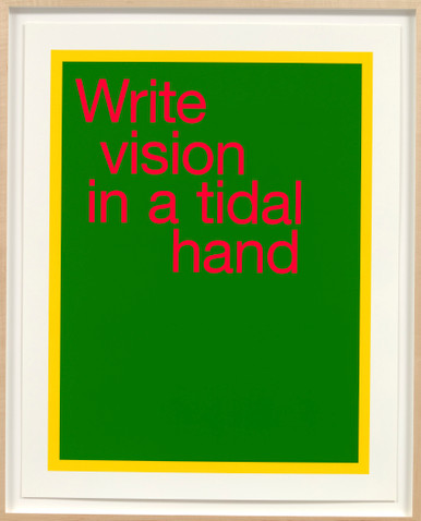 renee green write vision in a tidal hand