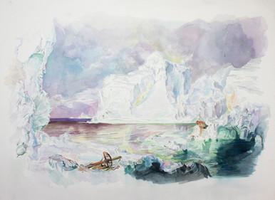 william powhida the icebergs by frederic edwin church 1861 romanticism