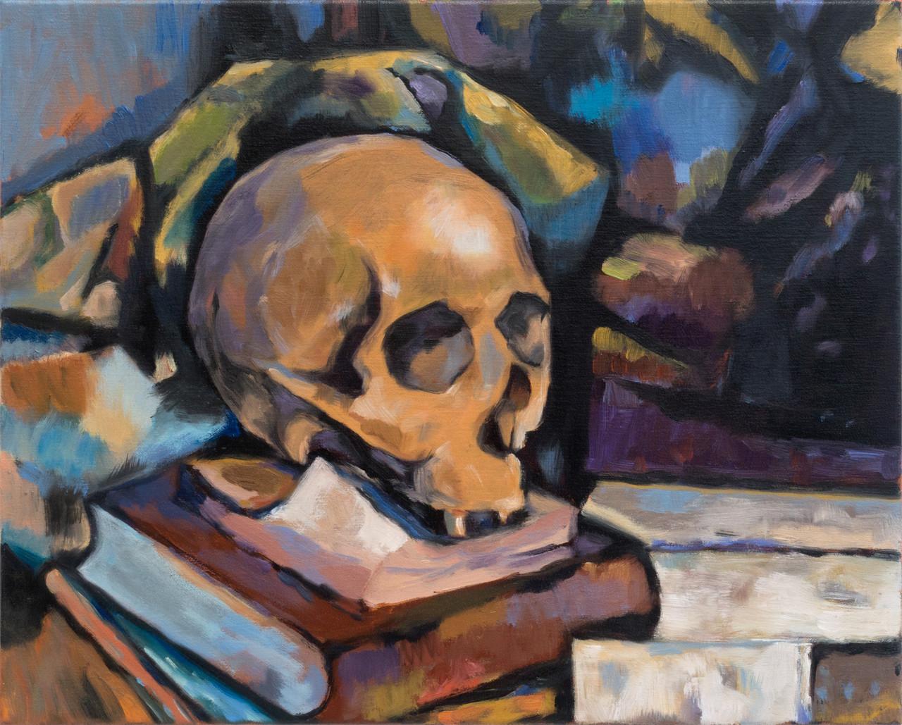jan kiefer untitled skull after cezanne