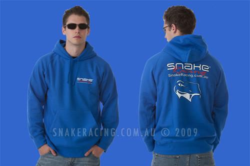 Snake Racing Mens Blue Hoodie