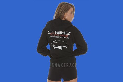 Snake Racing Womens Black Hoodie