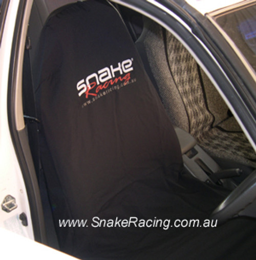 Snake Racing Black Seat Cover