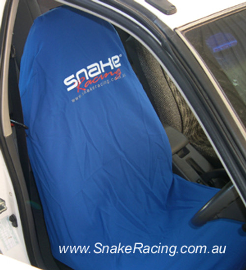 Snake Racing Blue Seat Cover