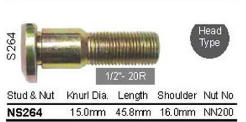 """Wheel Stud 1/2"""" x 45.8mm - osc - WS13-S264"""