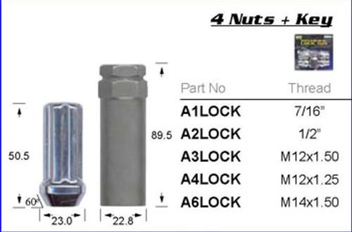 "1/2"" Chrome Lock Nut - osc - WN37-A2LOCK"