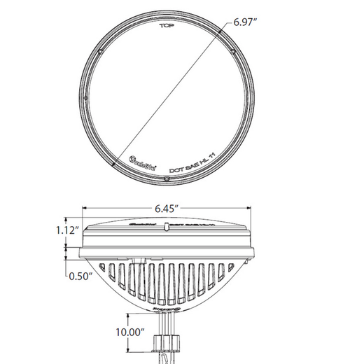 """7"""" Round LED Headlight - Single"""