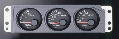 Nismo Triple Sub Meter - Black - BCNR33 Nissan Skyline GT-R - 24845-RN595