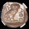 MS Attica Athens 440-404 BC Owl Silver Tetradrachm 5/5, 5/5 Perfect