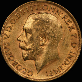 MS62 1912 Great Britain George V Gold Sovereign - Free Shipping in US