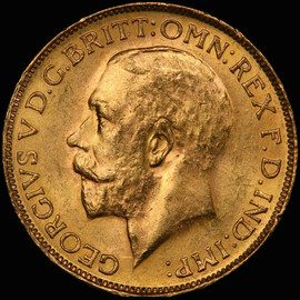 MS63+ 1927 SA South Africa George V Gold Sovereign  - Free Shipping in US