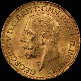 MS63 1929 SA South Africa George V Gold Sovereign  - Free Shipping in US