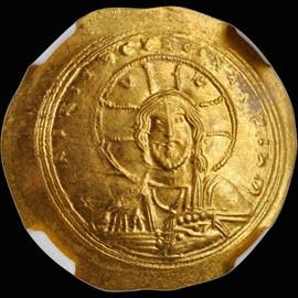 MS 1042-1055 AD CONSTANTINE IX, AV Histamenon Nomisma Constantinople Mint