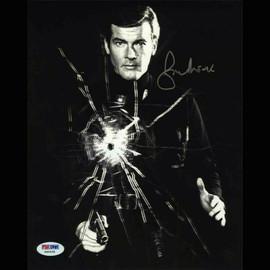 Roger Moore James Bond Autographed Signed 8x10 Photo Certified PSA/DNA