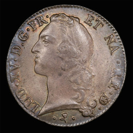 MS-61 1769 FRANCE  Louis XV Ecu,  Pau Mint toned, single highest grade in PCGS