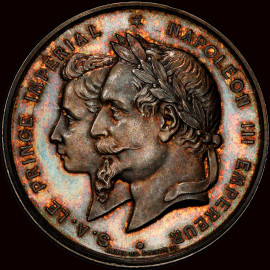 "SP64 1868 France Napoleon III silver Specimen ""Le Havre Maritime Exhibition"" Medal"