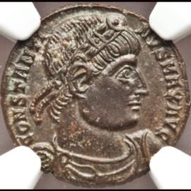 MS  5/5 - 4/5 AD 307-337 Roman Empire Constantine I the Great AE3 or BI nummus (18mm, 2.47 gm, 5h)
