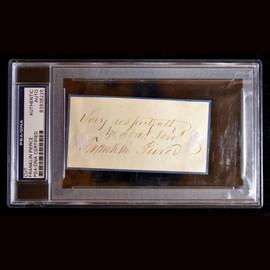 Certified 14th US President Franklin Pierce Cut Signature Autograph slab