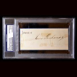 Certified 15th US President James Buchanan Cut Signature Autograph