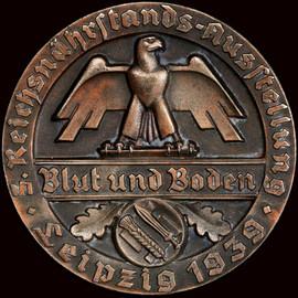 SP63BN 1939 Germany Third Reich Blut Und Boden Leipzig AE Obst-u. Gemüse Medal - only one graded