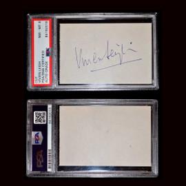 Certified Vivien Leigh Hand Signed Album Page Autograph slab